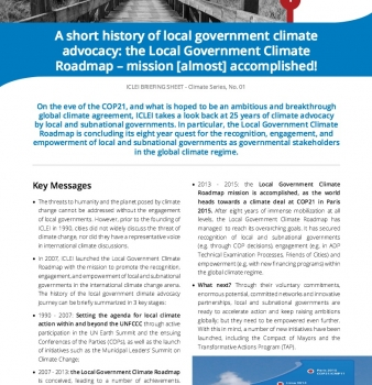 A brief history of Local Government climate advocacy