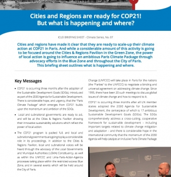 Cities and Regions are ready for COP21! #WeAreReady