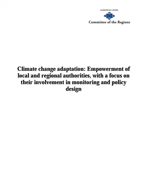Climate change adaptation: Empowerment of local and regional authorities, with a focus on their involvement in monitoring and policy design