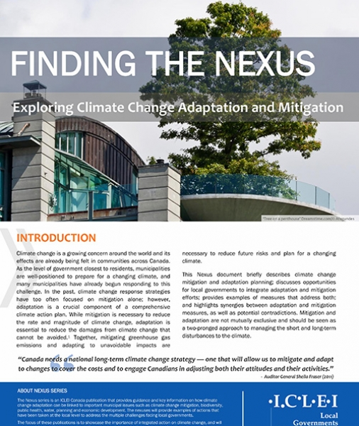 Finding the Nexus: Exploring Climate Change Adaptation and Mitigation