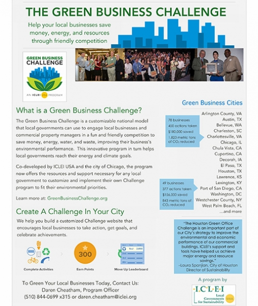 Green Business Challenge: brochure