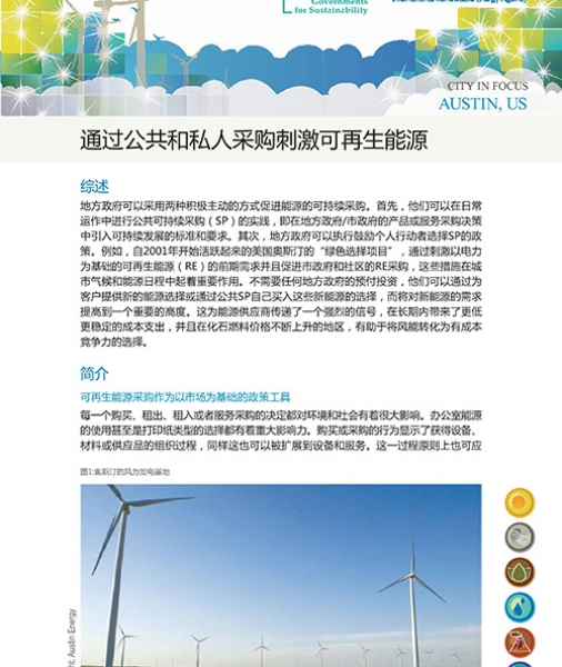 ICLEI-IRENA Case studies: Austin, USA (Chinese)