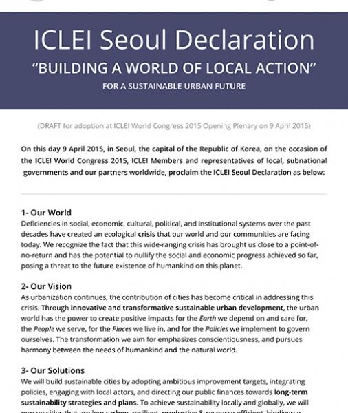 ICLEI Seoul Declaration