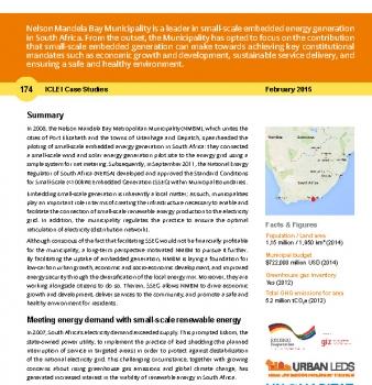 ICLEI case study 174 Nelson Mandela Bay Municipality, South Africa