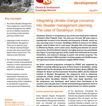 Integrating climate change concerns into disaster management planning: The case of Gorakhpur, India