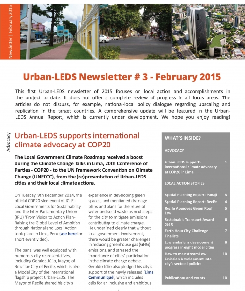 Urban-LEDS Newsletter #3