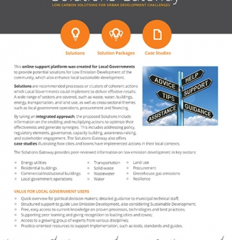 Urban-LEDS Solutions Gateway Factsheet