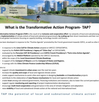 What  is the Transformative Action Program – TAP?