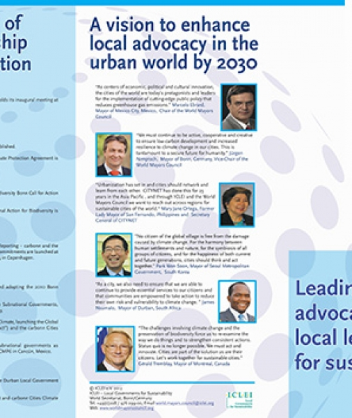 World Mayors Council on Climate Change (WMCCC) Leading global advocacy of local leaders for sustainability