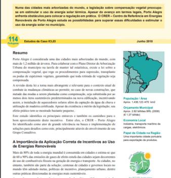Estudo de Caso #114: Energia Solar é Incentivada em Lei sobre Compensação Vegetal em Porto Alegre