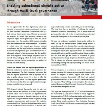 Enabling subnational climate action