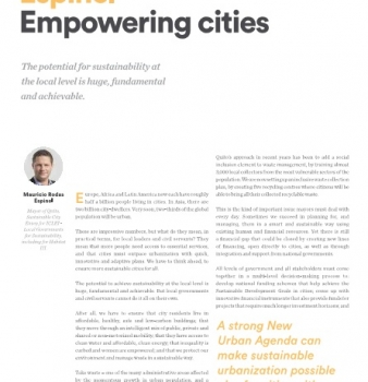 Our Planet Oct 2016 – Empowering cities