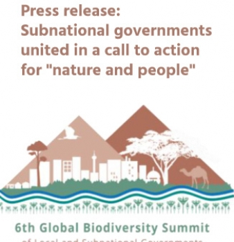 "Press release: Subnational governments united in a call to action for ""nature and people"""