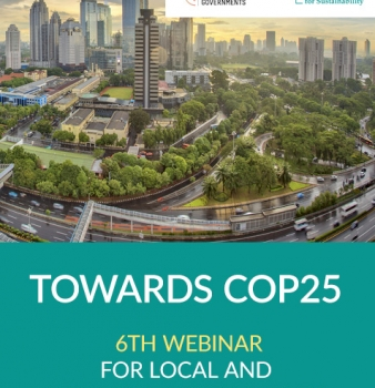 Towards COP25 – 6th webinar for local and regional governments