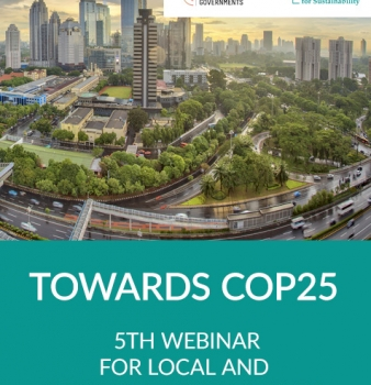 Towards COP25 – 5th webinar for local and regional governments