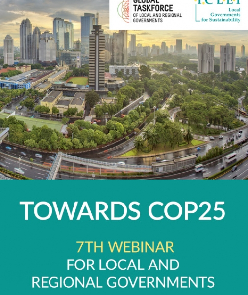 Towards COP25 – 7th webinar for local and regional governments